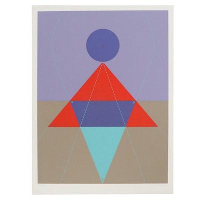 Kyohei Inukai Abstract Geometric Serigraph, 1978
