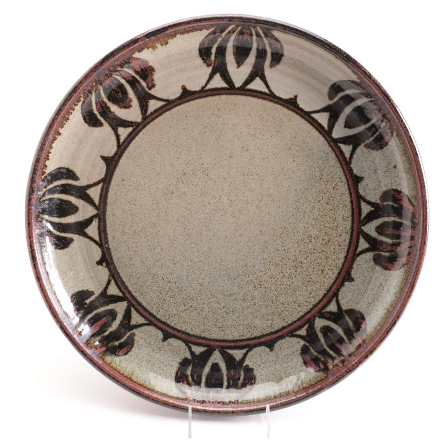 Schmidt Wheel Thrown and Glazed Studio Art Pottery Charger