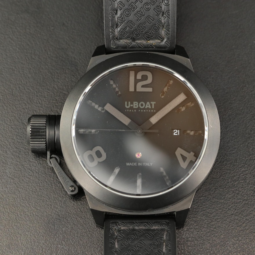 U- Boat Classics AB/45 Black PVD Stainless Steel Automatic Wristwatch