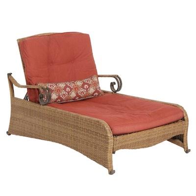 Hampton Bay Faux Wicker Chaise Lounge Patio Chair