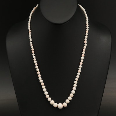 Graduated Coral Beaded Necklace