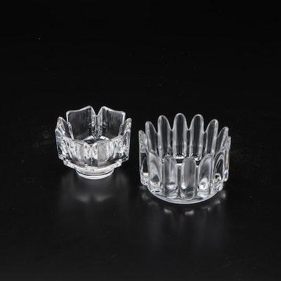"""Orrefors """"Corona"""" and """"Princess"""" Crystal Bowls"""