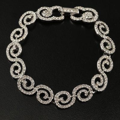 Swarovski Crystal Scrollwork Bracelet