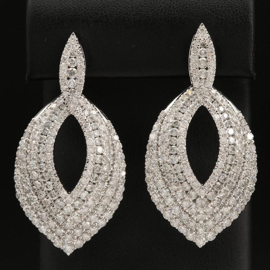 14K 9.21 CTW Diamond Earrings