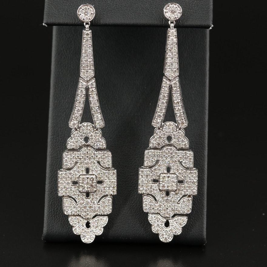 14K Diamond Pendulum Earrings