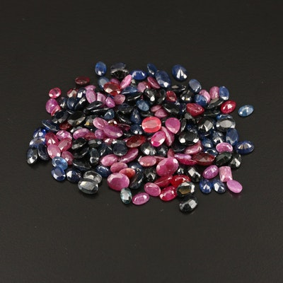 Loose 157.40 CTW Rubies and Sapphires
