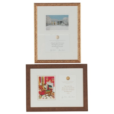 Giclée Holiday Greeting Cards From George W. and Laura Bush