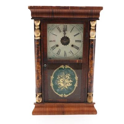 Wm. L. Gilbert Mahogany Ogee Shelf Clock, Mid to Late 19th Century