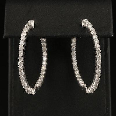 14K 5.10 CTW Diamond Inside-Out Hoop Earrings