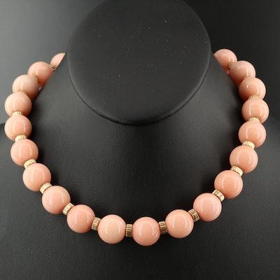 14K Quartzite Beaded Necklace