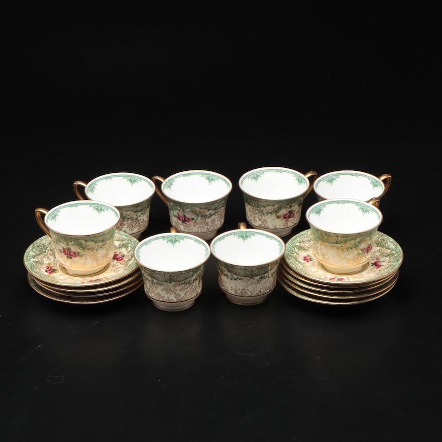 Royal Worcester for R.H. Macy & Co. Porcelain Teacup and Saucer Set
