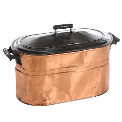 Rochester Copper Coal and Kindling Box