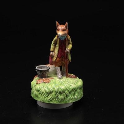 Schmid Ceramic Fox Musical Figurines