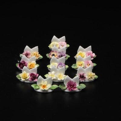 Coalport Bone China Floral  Place Card Holders
