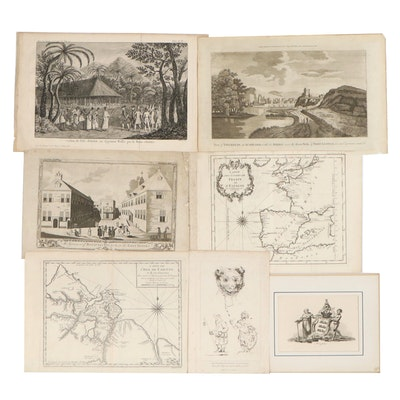 Travel, Political and Biblical Engravings, 18th Century