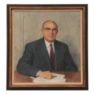 John M. King Portrait Oil Painting, 1967