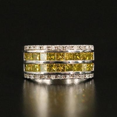 Sterling 1.90 CTW Diamond Multi-Row Ring