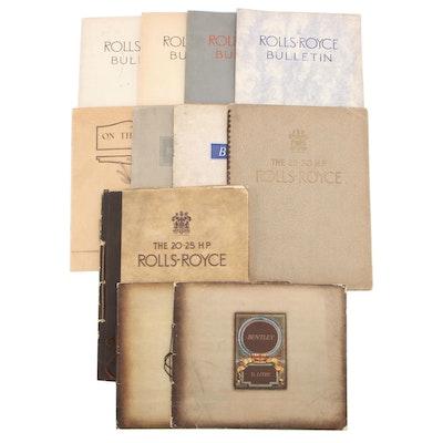 Rolls-Royce and Bentley Bulletins and Handbooks, 1920s-1930s