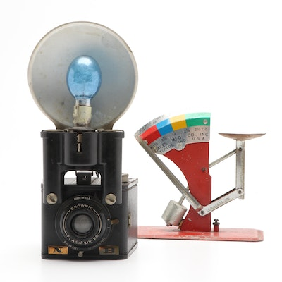 Brownie Camera and Metal Scale