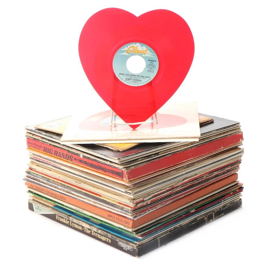 George Harrison, Bobby Caldwell, Frankie Lymon, Compilation Vinyl LP Records