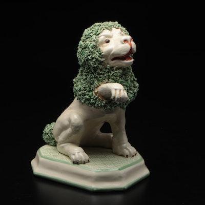 Erman Ceramic Lion Figurine, Mid to Late 20th Century