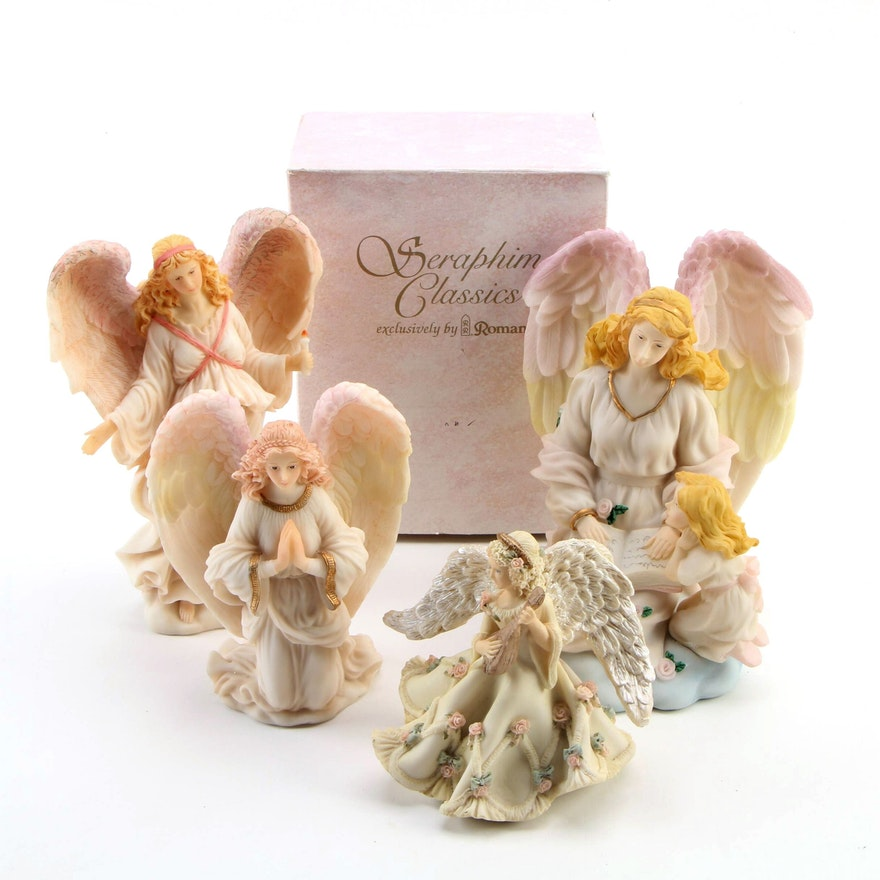 Roman, Inc. Seraphim Classics Resin Angels with Other Angel Figurines