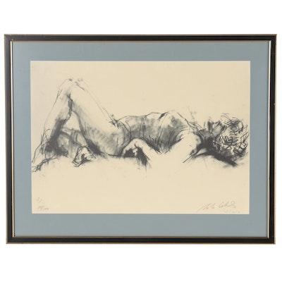 Martha Coolidge Halftone of Reclining Nude, 1965