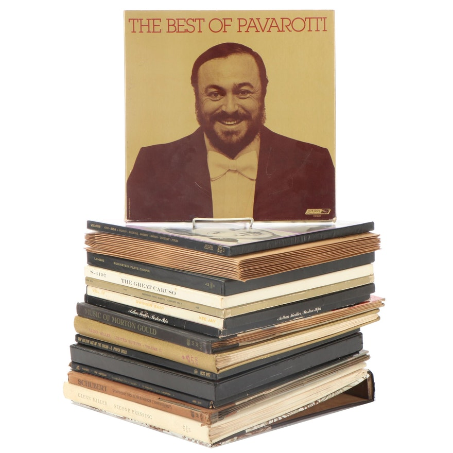 Pavarotti, Glenn Miller, Enrico Caruso, Other Vinyl LP Record Album Box Sets
