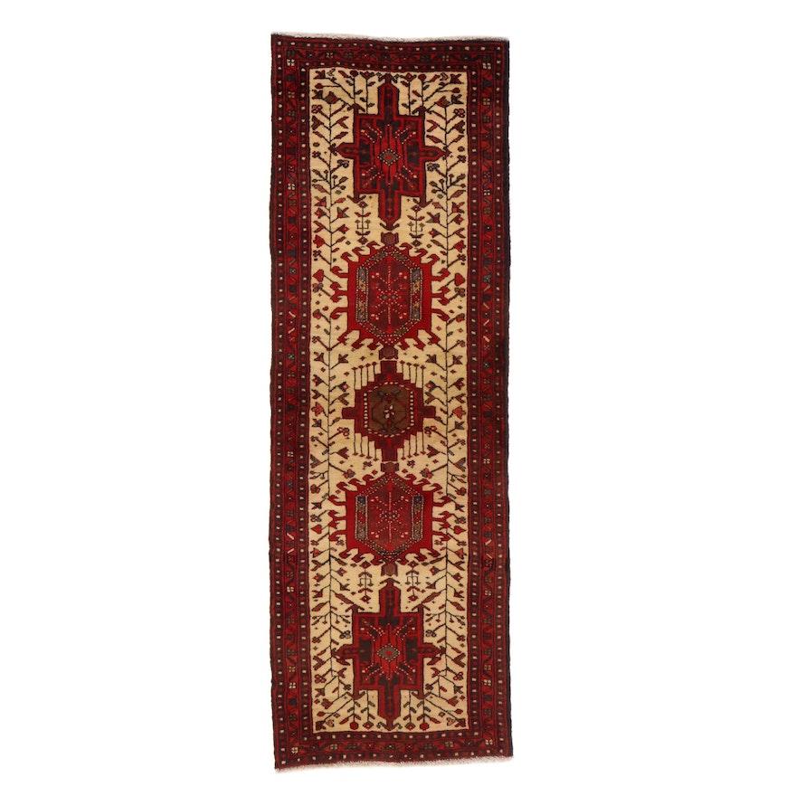 2'3 x 6'9 Hand-Knotted Persian Karaja Carpet Runner, 1970s