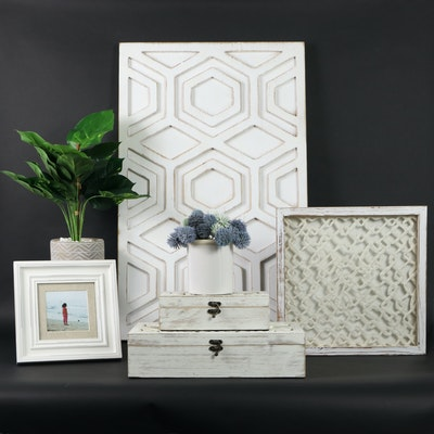 Broyhill Photo Frame, Wooden Decorative Boxes, and Other Decor