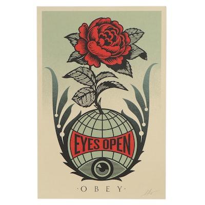 """Shepard Fairey Offset Print """"Eyes Open,"""" 2021"""