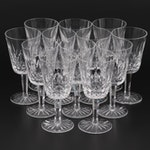 """Waterford Crystal """"Lismore"""" Water Goblets, Mid to Late 20th Century"""
