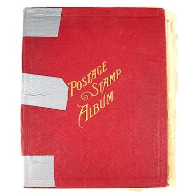 Vintage World Postage Stamp Album