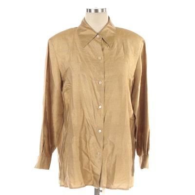 Ann May Silk Long Sleeve Shirt