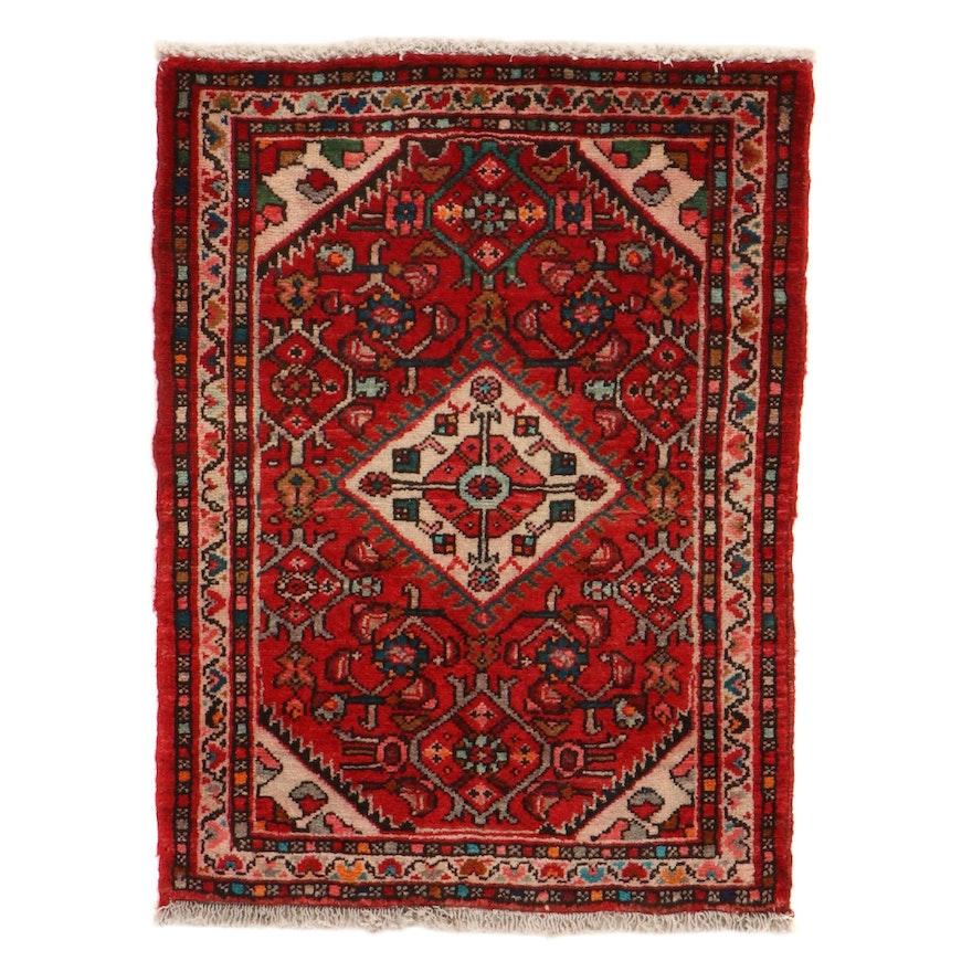 2'3 x 3'1 Hand-Knotted Persian Zanjan Rug, 1970s
