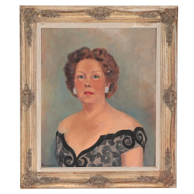 Florence Irion Portrait Oil Painting of a Woman