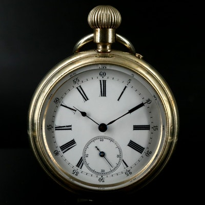 Antique Open Face Pocket Watch