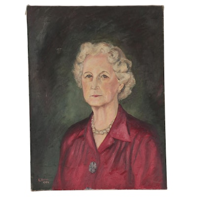 Portrait Oil Painting of a Woman, 1944