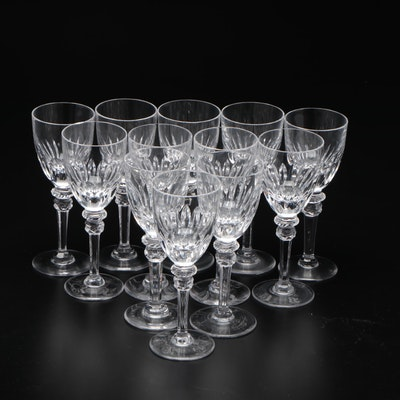 Cut Crystal Sherry Glasses, Late 20th Century