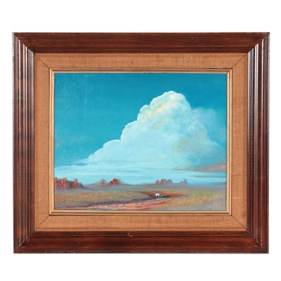 Monument Valley Landscape Oil Painting, Late 20th Century
