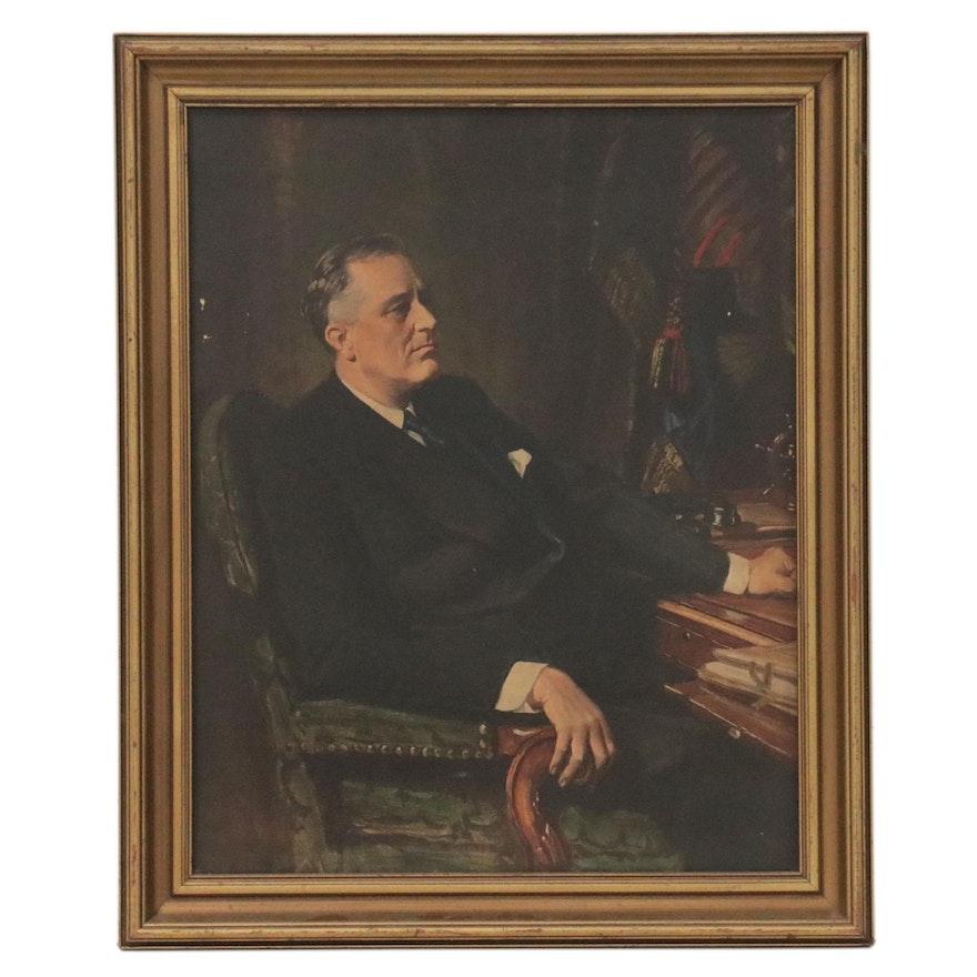 Giclée After Frank Salisbury of Franklin D. Roosevelt Portrait