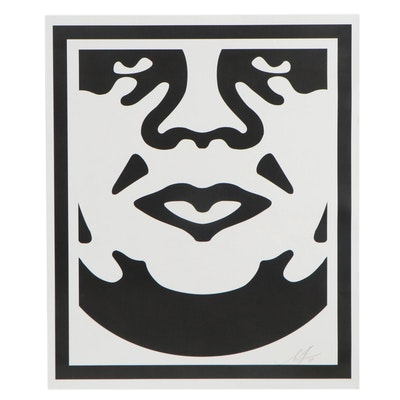 "Shepard Fairey Offset Print ""Obey Face,"" 2018"