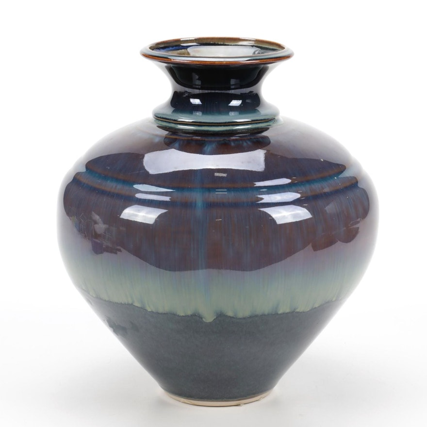 Bill Campbell Hand-Thrown Ceramic Vase