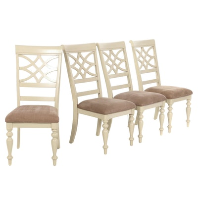 Four Standard Furniture Painted-Wood Dining Chairs