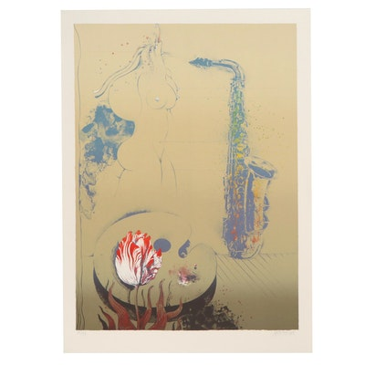 Ardy Strüwer Surreal Style Lithograph, Late 20th Century