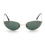 Chanel 4003 c.103/71 Rimless CC Logo Sunglasses with Case