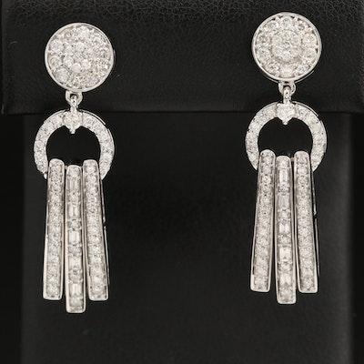 14K 2.15 CTW 2.15 CTW Diamond Drop Earrings