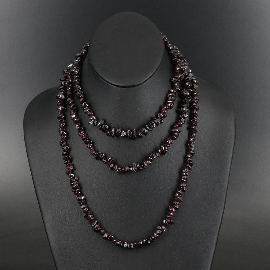 Rhodolite Garnet Beaded Necklaces