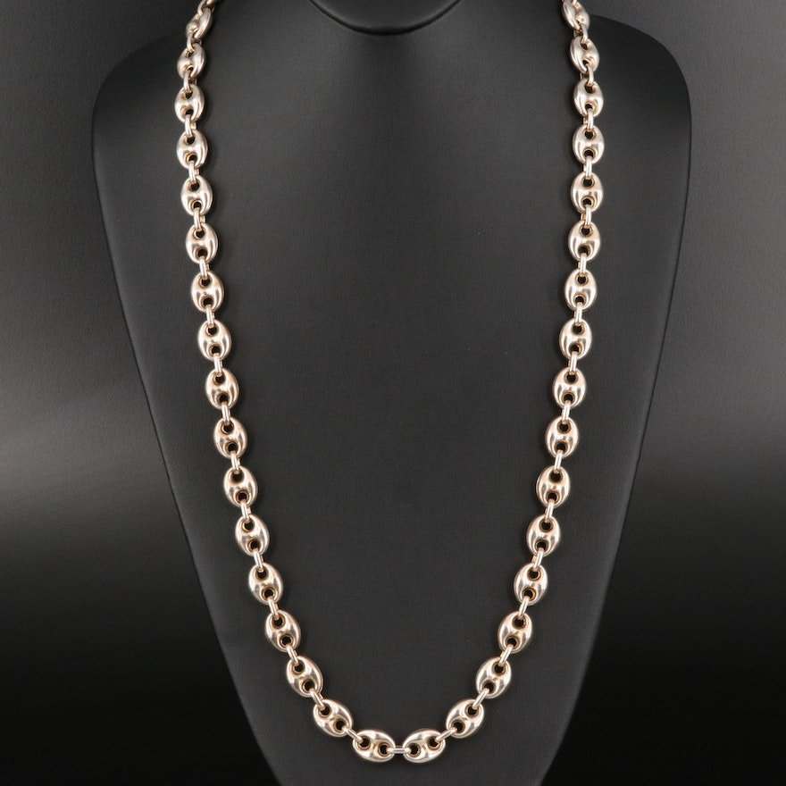Italian Sterling Mariner Link Chain Necklace