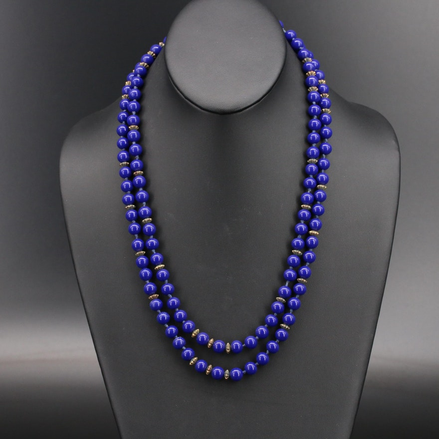 Sterling Glass Beaded Necklace
